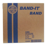Band-It Stainless Steel Bands, 3/8 in x 100 ft, 0.025 in Thick, Stainless Steel Product Image