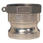 Dixon Valve Andrews/Boss-Lock Type A Cam and Groove Adapters, 3 in (NPT) Female, Aluminum Product Image