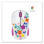 Logitech Design Collection Wireless Optical Mouse, 2.4 GHz Frequency/33 ft Wireless Range, Left/Right Hand Use, Spring Meadow Product Image