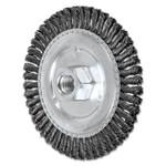 Advance Brush Stringer Bead Twist Knot Wheel, 4 7/8 D x 3/16 W, .02 Carbon Steel, 48 Knots Product Image