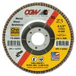 """CGW Abrasives Premium Z3 XL T27 Flap Disc, 5"""", 36 Grit, 7/8 Arbor, 12,200 rpm Product Image"""