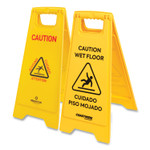 Coastwide Professional Multilingual Caution Floor Sign, Yellow, 12 x 1.2 x 25 Product Image