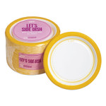 """Perk Everyday Paper Plates, 6"""", White/Yellow, 125/Pack Product Image"""