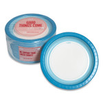 """Perk Heavy-Weight Paper Plates, 10"""", White/Blue, 125 Pack Product Image"""