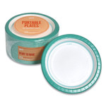 """Perk Everyday Paper Plates, 8.5"""", White/Teal, 125/Pack Product Image"""