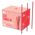 Perk Red Plastic Stirrers, 1,000/Pack Product Image