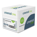 Universal 50% Recycled Copy Paper, 92 Bright, 20 lb, 8.5 x 11, White, 500 Sheets/Ream, 5 Reams/Carton Product Image