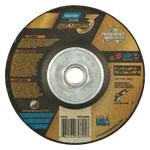 Saint-Gobain Quantum3 SG CA Type 27 Grinding Wheel, 5 in dia, 1/4 in Thick, 5/8 in-11 Arbor, 20 Grit, Ceramic Alumina Product Image