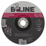 B-Line Depressed Ctr Grinding Wheel, 7 in dia, 1/4 in Thick, 7/8 in Arbor, 24 Grit Product Image