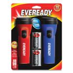 Eveready LED Economy Flashlight, Red/Blue, 2/Pack Product Image