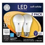 GE 100W LED Bulbs, 15 W, A19, Soft White, 2/Pack Product Image