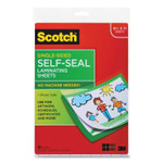 Scotch Self-Sealing Laminating Sheets, 6 mil, 9.06 x 11.63, Gloss Clear, 50/Pack Product Image