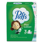 Puffs Plus Lotion Facial Tissue, White, 2-Ply, 124/Box, 3 Box/Pack Product Image