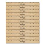 "Westcott Beveled Wood Ruler, Standard, 12"" Long, Natural Hardwood, 12/Pack Product Image"