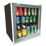 Avanti 1.6 Cu. Ft. Refrigerator/Beverage Cooler, 18.25 x 17.25 x 20, Black/Platinum Trim Glass Door Product Image