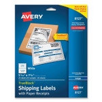 Avery Shipping Labels with TrueBlock Technology, Inkjet Printers, 5.06 x 7.62, White, 25 Sheets/Pack Product Image