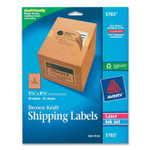 Avery Shipping Labels with TrueBlock Technology, Inkjet/Laser Printers, 5.5 x 8.5, Brown, 2/Sheet, 25 Sheets/Pack Product Image