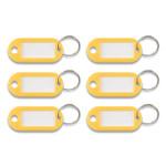 Advantus Key Tags Label Window, 0.88 x 0.19 x 2, Yellow, 6/Pack Product Image