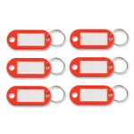 Advantus Key Tags Label Window, 0.88 x 0.19 x 2, Red, 6/Pack Product Image