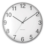 """Union & Scale Essentials Classic Round Wall Clock, 12"""" Overall Diameter, Silver Case, 1 AA (Sold Separately) Product Image"""