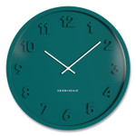 """Union & Scale Essentials Mid-Century Round Wall Clock, 13"""" Overall Diameter, Teal Case, 1 AA (Sold Separately) Product Image"""