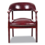 BOSS Ivy League Executive Captain's Chair, 24 x 26 x 31, Burgundy Seat/Burgundy Back Product Image
