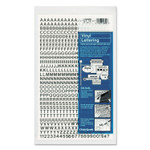 """Chartpak Press-On Vinyl Letters and Numbers, Self Adhesive, Black, 1/4""""h, 610/Pack Product Image"""