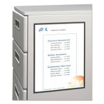 C-Line Magnetic Cubicle Keepers Display Holders, 9 13/64 x 11 11/16, Clear, 2/Pack Product Image