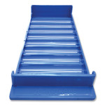 CONTROLTEK Stackable Plastic Coin Tray, Nickels, 10 Compartments, Blue, 2/Pack Product Image