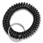 CONTROLTEK Wrist Key Coil Key Organizers, Black, 12/Pack Product Image