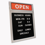 COSCO Message/Business Hours Sign, 15 x 20 1/2, Black/Red Product Image