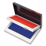 COSCO Two-Color Felt Stamp Pads, 4.25 x 3.75, Blue/Red Product Image