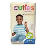 Cuties Premium Jumbo Diapers, Size 7, 41 lbs and Up, 80/Carton Product Image