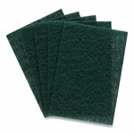 Coastwide Professional Heavy Duty Scouring Pads, Green, 12/Pack Product Image