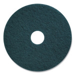 """Coastwide Professional Cleaning Floor Pads, 17"""" Diameter, Blue, 5/Carton Product Image"""