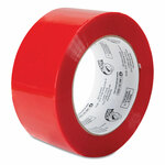 """Duck Commercial Grade Color-Coding Packaging Tape, 3"""" Core, 1.88"""" x 109.3 yds, Red Product Image"""