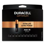 Duracell Optimum Alkaline AAA Batteries, 18/Pack Product Image