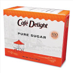 Caf Delight Pure Sugar Packets, 0.10 oz Packet, 100 Packets/Box Product Image