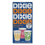 Dixie Multi-Purpose Paper Cold Cups, 5 oz, Assorted Multicolor Designs, 100/Pack Product Image