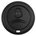 Dixie Sip-Through Dome Hot Drink Lids, Fits 21, 24oz Cups, Black, 100/Pack, 10/CT Product Image