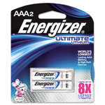 Energizer Ultimate Lithium AAA Batteries, 1.5V, 2/Pack Product Image