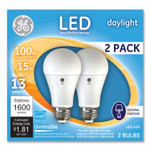 GE 100W LED Bulbs, 15 W, A19, Daylight, 2/Pack Product Image
