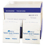 GEN Quarter-Fold Toilet Seat Covers, 14.5 x 16.5, White, 5,000/Carton Product Image