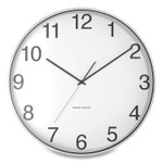 """Union & Scale Essentials Round Aluminum Wall Clock, 15.7"""" Overall Diameter, Silver Case, 1 AA (sold separately) Product Image"""