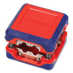 """Workpro Compact Box-Style Wire Stripper, 1.18"""" Plastic Square Box, Steel-Ribbon Blade, Red/Blue Product Image"""