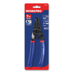 """Workpro Tapered Nose Spring-Loaded Multi-Purpose Wiring Tool, Metric Bolt, AWG/Metric Wire, 7"""" Long, Metal, Blue/Red Soft-Grip Handle Product Image"""