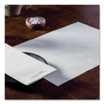 Hoffmaster Solid Color Embossed Straight Edge Placemats, 10 x 14, White, 1,000/Carton Product Image