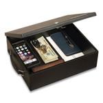 Honeywell Large Cash Management Box, Keylock, 11 x 14.3 x 4.3, Steel, Black Product Image