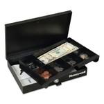 Honeywell Low Profile Cash Box, Keylock, 11.6 x 8 x 1.9, Steel, Black Product Image
