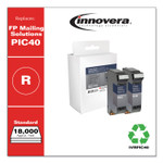 Innovera Compatible Red Postage Meter Ink, Replacement for FP Mailing Solutions PIC40, 18,000 Page-Yield, 2/Pack Product Image